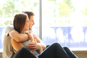 JFS Adoption. A young couple thinking about their future while awaiting an adoption.