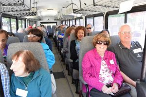 JFS Richmond Virginia Jewish Family Family EnRich participants on the bus to Blue Bee Cider