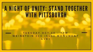 A Night of Unity: Standing Together with Pittsburgh
